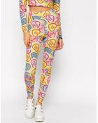 Asos High Waisted Leggings In Loveheart Print - Lyst