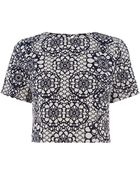 Oasis Graphic Jacquard Top - Lyst