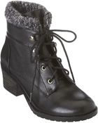 Nine West Finnley Lace-Up Booties - Lyst