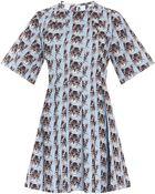 Paul & Joe Sister Pleated Ss Cat Print Dress - Lyst