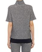 Band of Outsiders Striped Short-Sleeve Top - Lyst