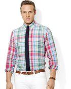 Polo Ralph Lauren Polo Big and Tall Linen Plaid Shirt - Lyst