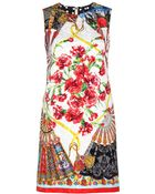 Dolce & Gabbana Brocade Dress - Lyst