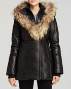 Mackage Ingrid Leather Down Coat - Lyst