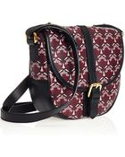 Liberty London Oxblood Carnaby Saddle Bag - Lyst