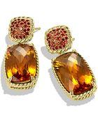 David Yurman Chatelaine Drop Earrings In Gold - Lyst