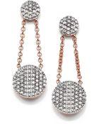Phillips House Affair Diamond & 14K Rose Gold Infinity Double-Drop Earrings - Lyst
