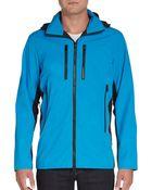 Michael Kors Hooded Colorblock Zip Jacket - Lyst