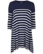 Topshop Knitted Stripe Swing Dress - Lyst