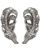 Oscar de la Renta Swarovski Crystal Feather Earrings - Lyst