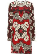 Valentino Printed Silk Dress - Lyst