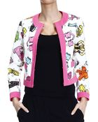 Moschino Jacket Without Collar Cotton Printed Clothes - Lyst