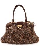 Ferragamo Marisa Boucle Wool Handbag - Lyst