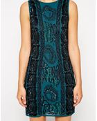 Asos Embellished Cable Bodycon Dress - Lyst