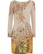Matthew Williamson Embellished Silk Dress - Lyst
