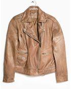 Violeta By Mango Leather Biker Jacket - Lyst