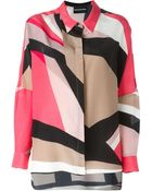 Marco Bologna Printed High-Low Blouse - Lyst