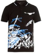 McQ by Alexander McQueen Doom Track Printed Polo Shirt - Lyst