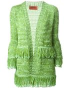 Missoni Fringed Open Front Cardigan - Lyst