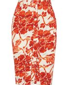 Altuzarra Balthazar Floral-Print Stretch-Cotton Pencil Skirt - Lyst