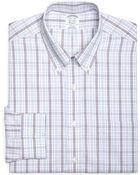 Brooks Brothers Supima Cotton Noniron Slim Fit Buttondown Broadcloth Tonal Check Dress Shirt - Lyst