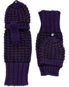 Calvin Klein Flap Top Gloves - Lyst