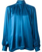 Yves Saint Laurent Vintage Bow Fastening Blouse - Lyst