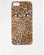 Asos Leopard Cat Print Iphone 5 Case - Lyst