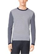 Michael Kors Striped Cotton Sweater - Lyst