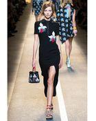 Fendi Embroidered Silk Dress - Lyst