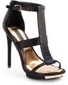 BCBGMAXAZRIA Lilie Jeweled High Heel Sandals - Lyst