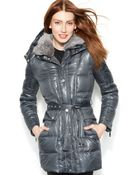 Vince Camuto Faux-Fur-Hooded Down-Blend Parka - Lyst