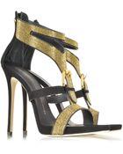 Giuseppe Zanotti Black Suede Sandal W/Studs - Lyst