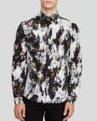 McQ by Alexander McQueen Patched Floral Shirt - Lyst