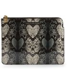 Marc By Marc Jacobs Snake Heart Techno Clutch - Lyst