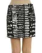 Proenza Schouler Monocrome Tweed Wrap Skirt - Lyst