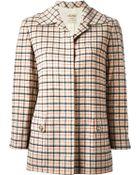 Céline Vintage Checked Coat - Lyst