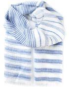 Canali Striped Scarf - Lyst