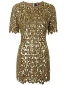 Topshop Petite Limited Edition Cut-Out Embellished Dress - Lyst