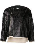 3.1 Phillip Lim Coated Cut Away Sweatshirt - Lyst