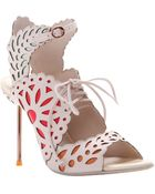Sophia Webster Keira Lace-Up Leather Doily Sandal Keira Lace-Up Leather Doily Sandal - Lyst