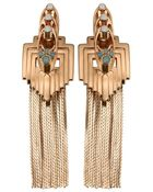 Mawi Flapper Fringe Earrings In Rose Gold - Lyst