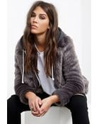 Forever 21 Collared Luxe Faux Fur Jacket - Lyst