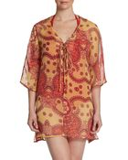 French Connection Sheer Paisley Coverup - Lyst