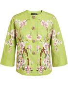 Dolce & Gabbana Textured Floral Printed Cottonsilk Jacket - Lyst