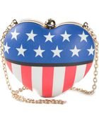 Love Moschino Americana Heart Shaped Clutch - Lyst