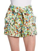 Rebecca Minkoff Vincent Floral Silk Shorts - Lyst