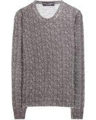Dolce & Gabbana Herringbone-Print Wool Top - Lyst