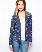 Asos Blazer with Metallic Trim - Lyst