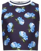 Mother Of Pearl Morley Floral-Print Cropped Top - Lyst
